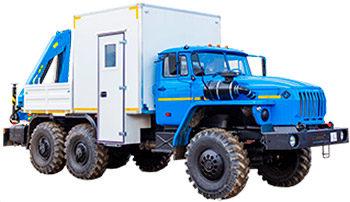 Фургон специальный Урал 4320-1112-61 с КМУ ИМ 50