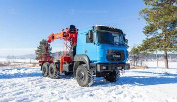 Седельный тягач Урал 44202-3511-82Е5 с КМУ KANGLIM