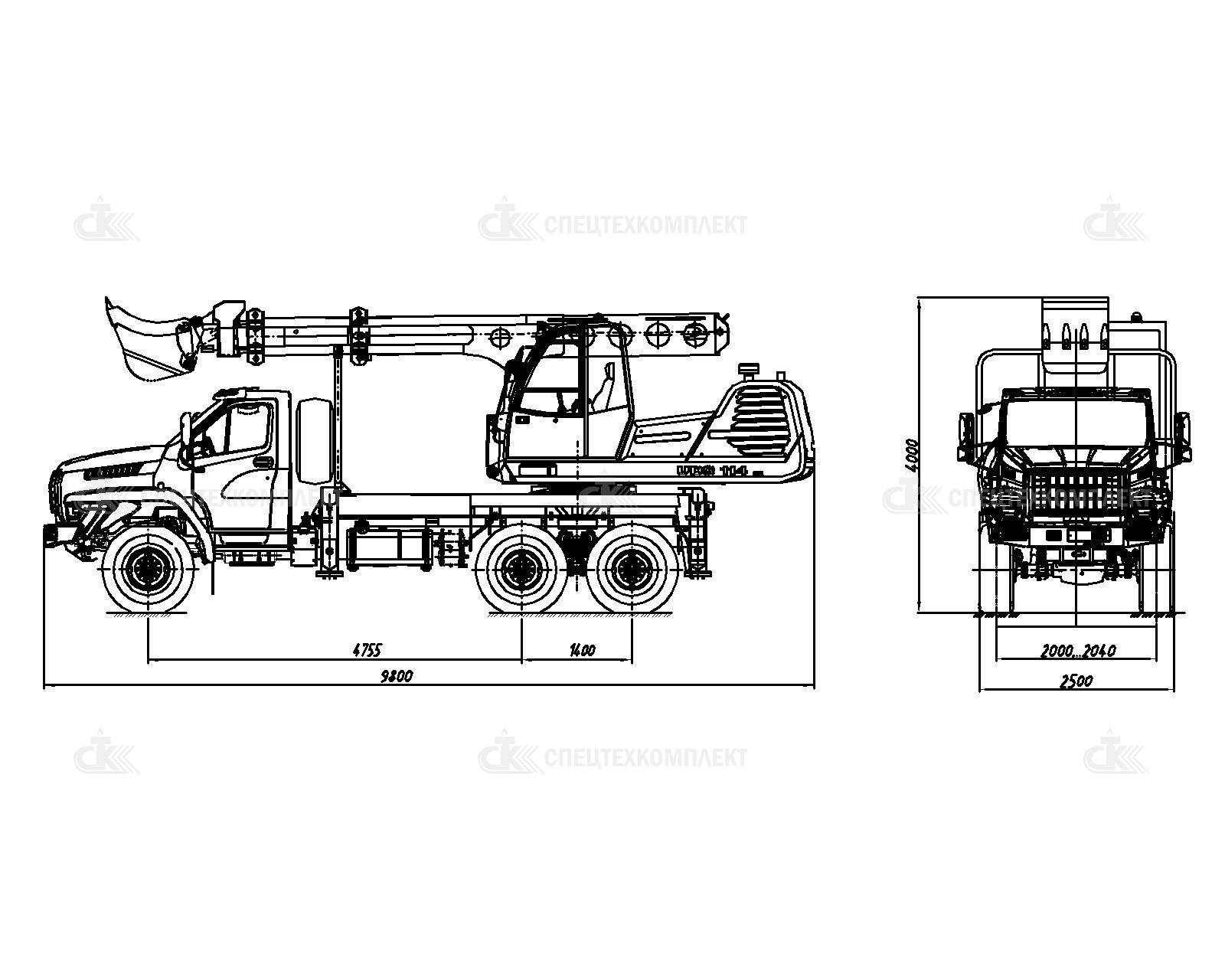 Универсальный экскаватор-планировщик UDS 114