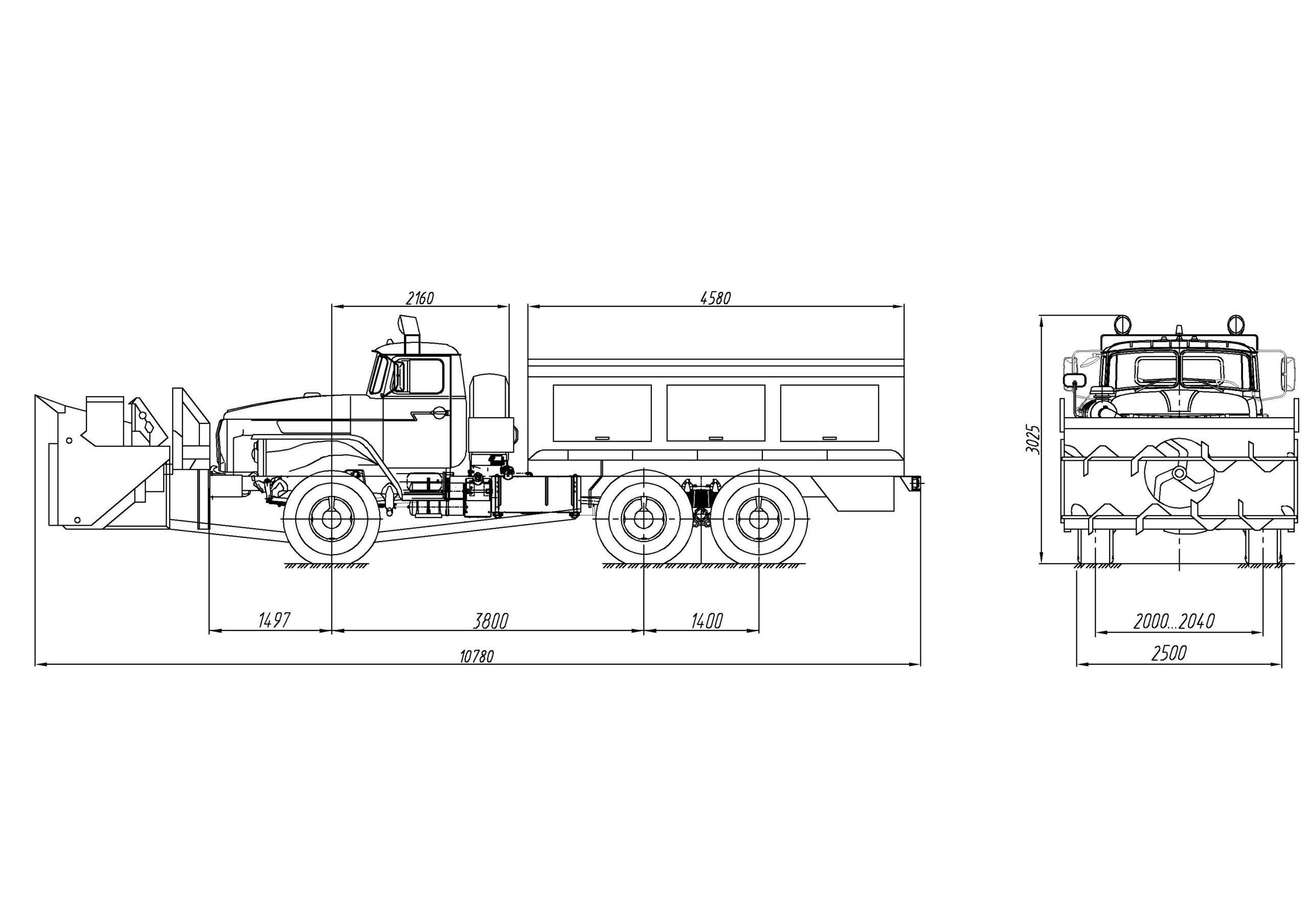 Шнекороторный снегоочиститель Урал 4320-1121-61