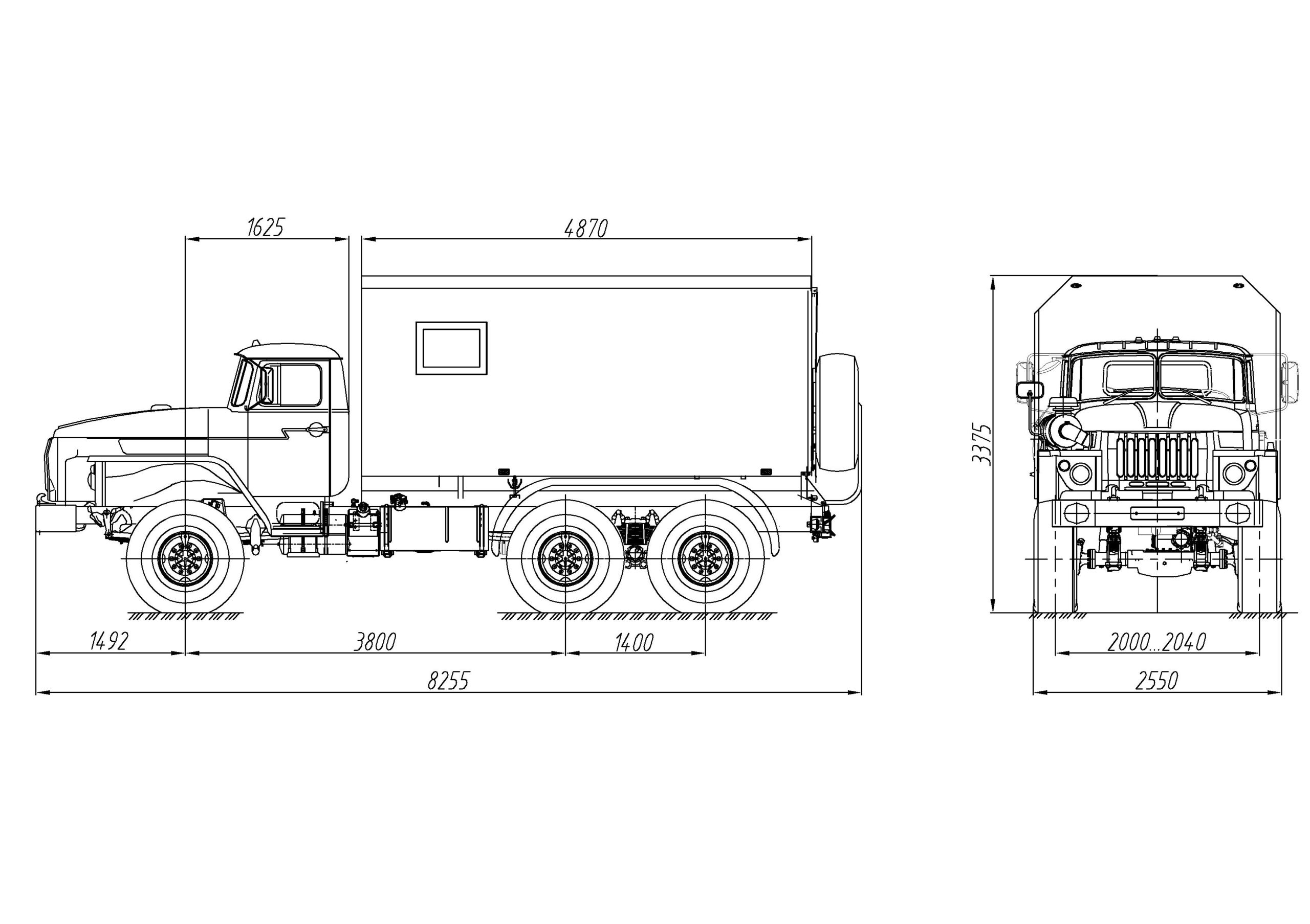 Фургон специальный Урал 4320-1112-61