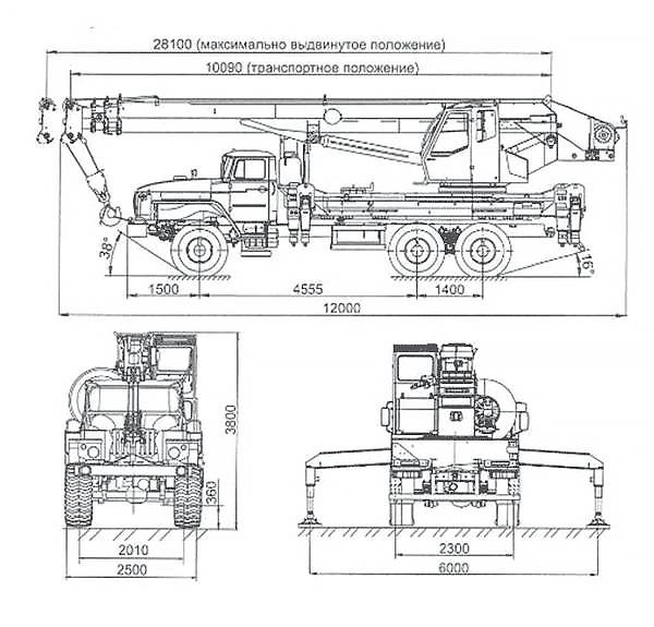 Автокран КС 55732-25-28 «ЧЕЛЯБИНЕЦ» Урал 4320-1912-72