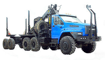 Лесовоз с ГМ  на шасси Урал 5557-6151-72